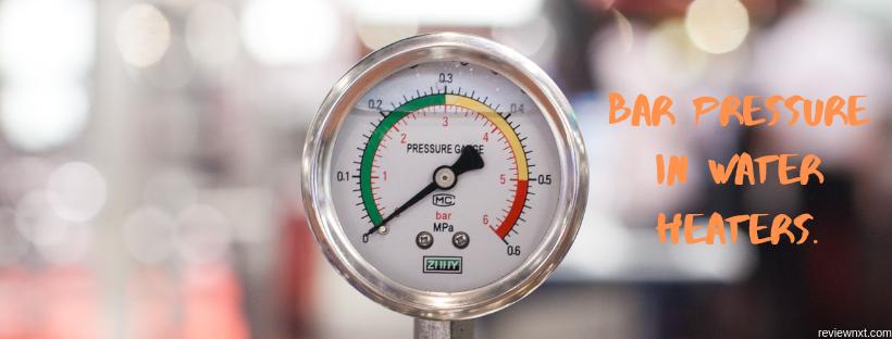 bar pressure in geysers