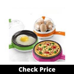 FLYNGO Multifunction 2 in 1 Electric Egg Boiler Steamer Non-Stick Omelette Frying Pan