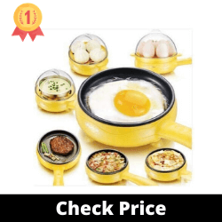 HAPPENWELL Multifunctional 2 in 1 Electric Egg Boiling Steamer & Frying Pan